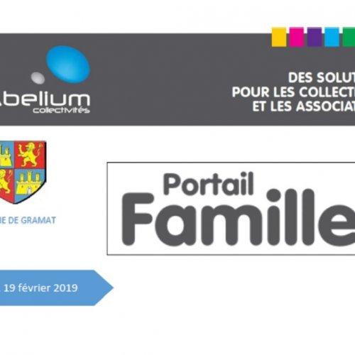 Réunion information portail familles