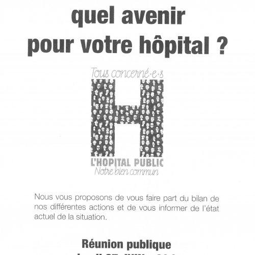 Réunion publique pour l'hôpital