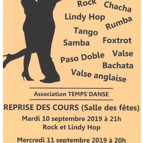 Cours de danse de salon par TEMPS DANSE