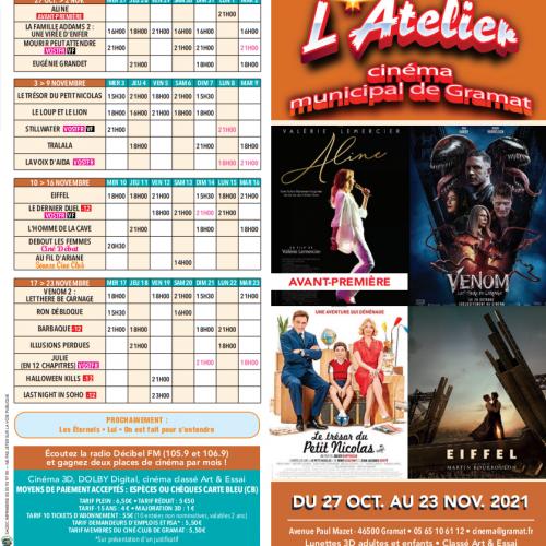 Programme du Cinéma 27.10 au 23.11.21
